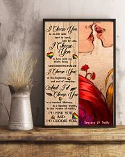Lesbian Kiss I Choose You 24x36 Poster lifestyle-poster-3