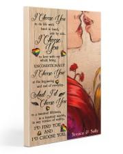 Lesbian Kiss I Choose You 20x30 Gallery Wrapped Canvas Prints thumbnail