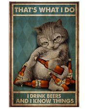 Cat Drink Beer 24x36 Poster front