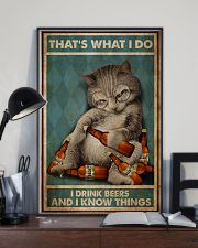 Cat Drink Beer 24x36 Poster lifestyle-poster-2