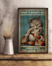 Cat Drink Beer 24x36 Poster lifestyle-poster-3