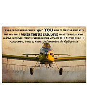 Crop Duster While On This Flight - B 36x24 Poster front