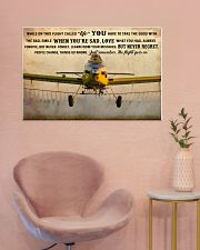 Crop Duster While On This Flight - B 36x24 Poster poster-landscape-36x24-lifestyle-19