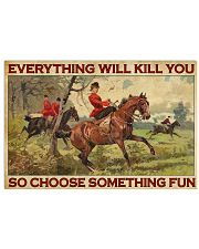Lady Fox Hunting Choose Something Fun  36x24 Poster front