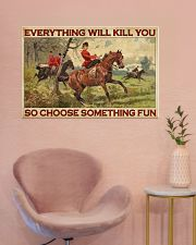Lady Fox Hunting Choose Something Fun  36x24 Poster poster-landscape-36x24-lifestyle-19