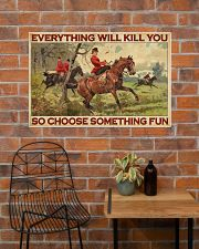 Lady Fox Hunting Choose Something Fun  36x24 Poster poster-landscape-36x24-lifestyle-20