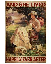 Sewing Girl Live Happily 24x36 Poster front