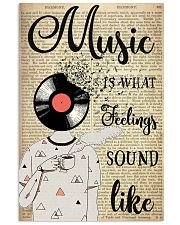 DJ Head Music Is What Feelings Sound Like  24x36 Poster front