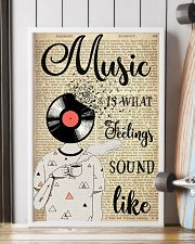 DJ Head Music Is What Feelings Sound Like  24x36 Poster lifestyle-poster-4