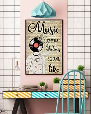 DJ Head Music Is What Feelings Sound Like  24x36 Poster lifestyle-poster-6