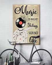 DJ Head Music Is What Feelings Sound Like  24x36 Poster lifestyle-poster-7