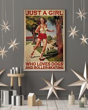 Girl Loves Roller-skating And Dogs 24x36 Poster lifestyle-holiday-poster-1