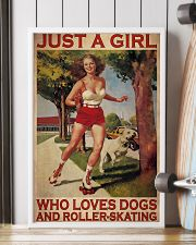 Girl Loves Roller-skating And Dogs 24x36 Poster lifestyle-poster-4