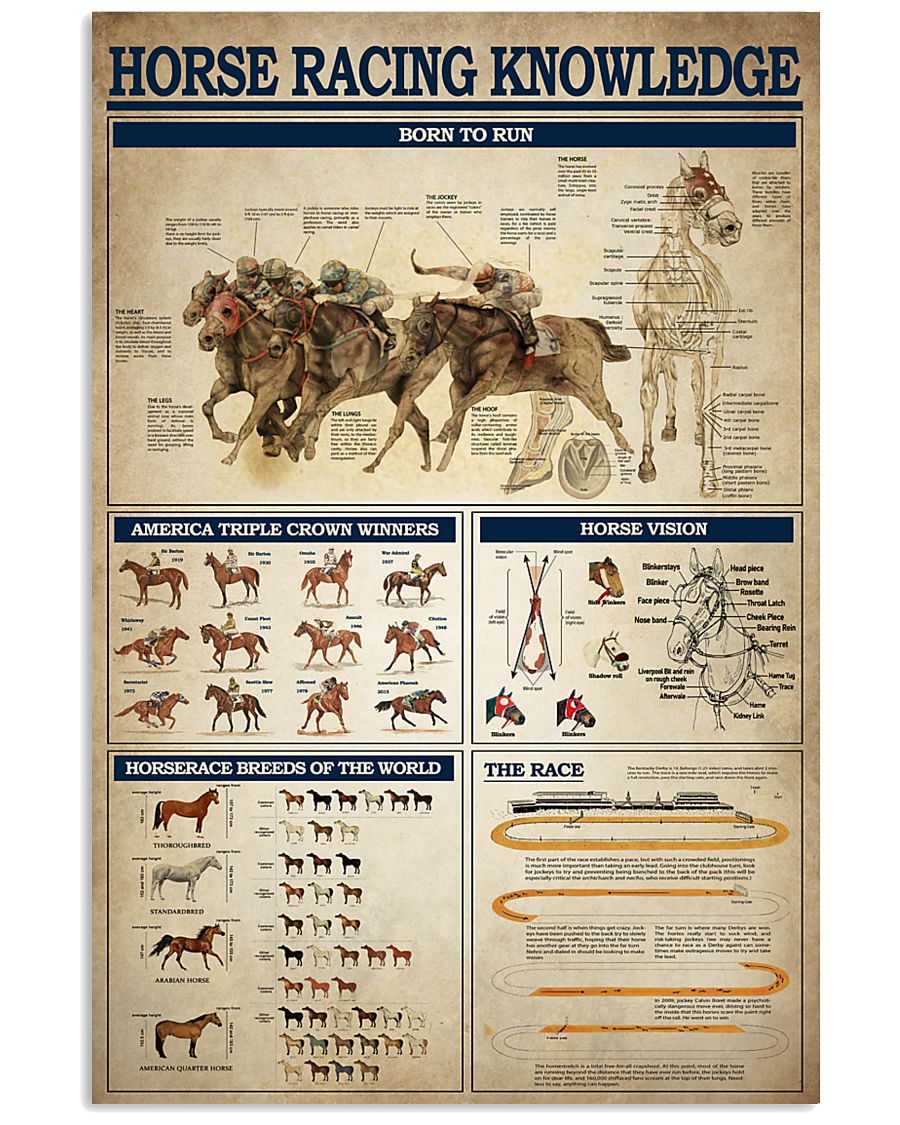 Horse Racing Knowledge 2 11x17 Poster