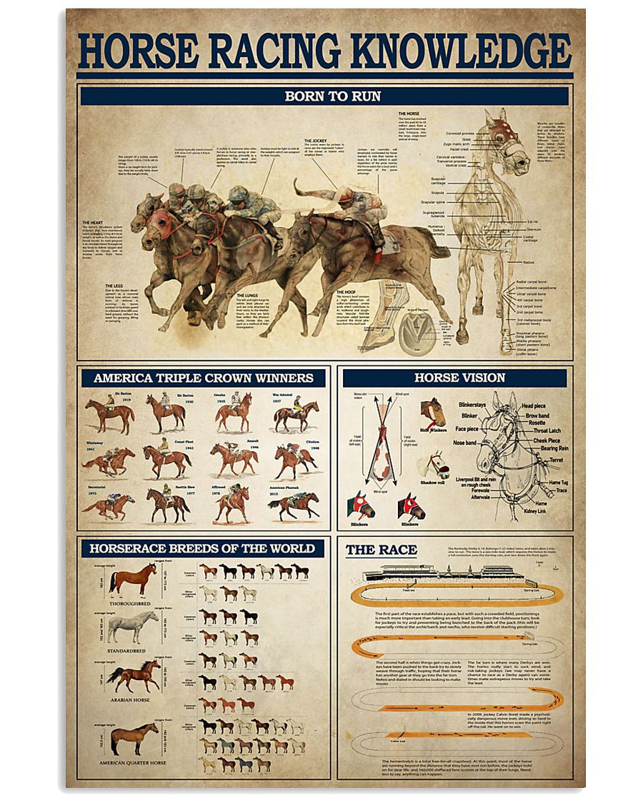 Horse Racing Knowledge 2 24x36 Poster