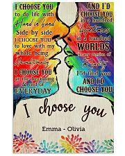 LGBT Kiss I Choose You 2 Vertical Poster tile