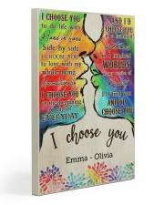 LGBT Kiss I Choose You 2 20x30 Gallery Wrapped Canvas Prints thumbnail