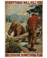 Bear Hunting Choose Something Fun 2 24x36 Poster front