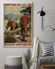 Bear Hunting Choose Something Fun 2 24x36 Poster lifestyle-poster-1