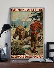 Bear Hunting Choose Something Fun 2 24x36 Poster lifestyle-poster-2
