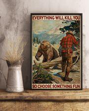 Bear Hunting Choose Something Fun 2 24x36 Poster lifestyle-poster-3