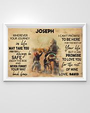 Motorcycle Racing To My Son 36x24 Poster poster-landscape-36x24-lifestyle-02
