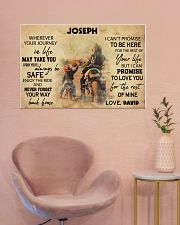 Motorcycle Racing To My Son 36x24 Poster poster-landscape-36x24-lifestyle-19
