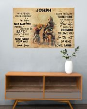 Motorcycle Racing To My Son 36x24 Poster poster-landscape-36x24-lifestyle-21