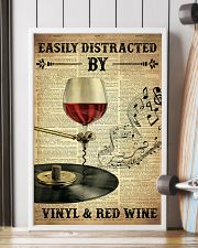 Distracted By Vinyl And Red Wine 24x36 Poster lifestyle-poster-4