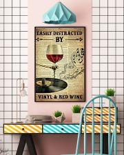 Distracted By Vinyl And Red Wine 24x36 Poster lifestyle-poster-6