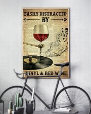 Distracted By Vinyl And Red Wine 24x36 Poster lifestyle-poster-7