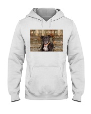 A Staffie's House Rules  Hooded Sweatshirt thumbnail