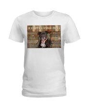 A Staffie's House Rules  Ladies T-Shirt thumbnail