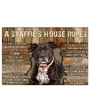 A Staffie's House Rules  36x24 Poster front