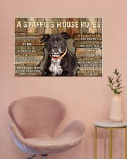 A Staffie's House Rules  36x24 Poster poster-landscape-36x24-lifestyle-19