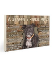 A Staffie's House Rules  30x20 Gallery Wrapped Canvas Prints thumbnail