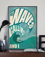The Waves Are Calling 3- Surfing 24x36 Poster lifestyle-poster-2