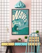 The Waves Are Calling 3- Surfing 24x36 Poster lifestyle-poster-6