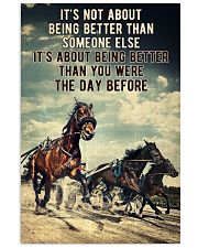Harness Racing It's Not About  24x36 Poster front