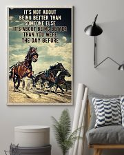 Harness Racing It's Not About  24x36 Poster lifestyle-poster-1