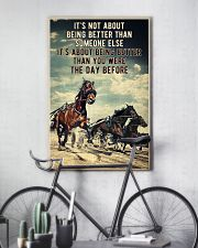 Harness Racing It's Not About  24x36 Poster lifestyle-poster-7
