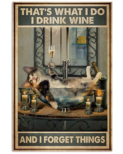 Cat Drink Wine Forget Things