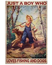 Boy Fishing Dog 2 Vertical Poster tile
