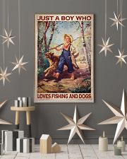 Boy Fishing Dog 2 24x36 Poster lifestyle-holiday-poster-1