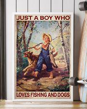 Boy Fishing Dog 2 24x36 Poster lifestyle-poster-4