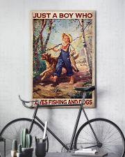 Boy Fishing Dog 2 24x36 Poster lifestyle-poster-7