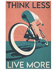 Cycling Think Less Live More 24x36 Poster front