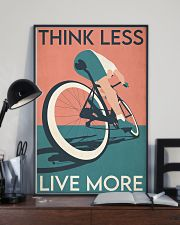 Cycling Think Less Live More 24x36 Poster lifestyle-poster-2
