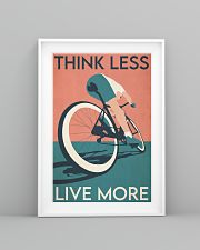 Cycling Think Less Live More 24x36 Poster lifestyle-poster-5