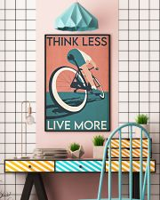 Cycling Think Less Live More 24x36 Poster lifestyle-poster-6